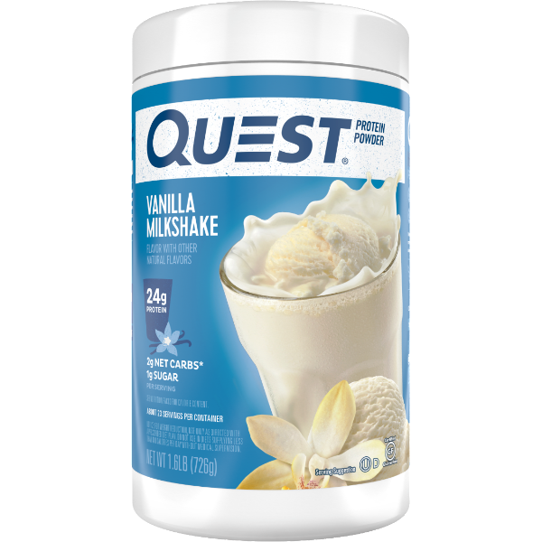 Protein Powder - Quest High Protein Powder - Vanilla Milkshake - 1.6 LB - ProteinWise