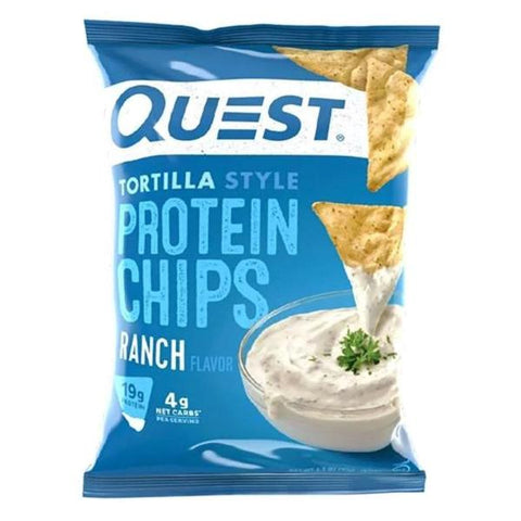 Snacks - Quest Protein Tortilla Chips - Ranch - 8 Bags - ProteinWise