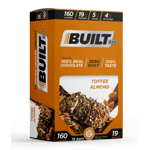 Built Bar - Toffee Almond - 18/Box