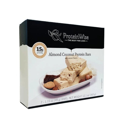 ProteinWise - Almond Coconut Low Carb Protein Bars - 7 Bars
