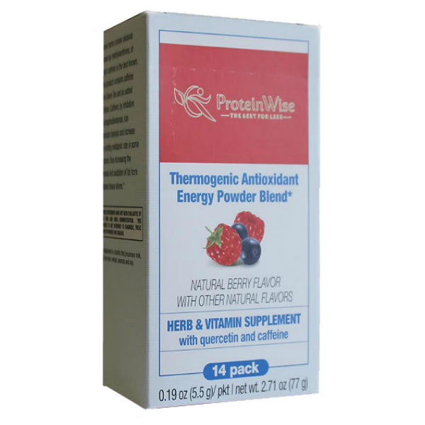 Supplements - ProteinWise - BioFix Thermogenic Antioxidant Energy Drink Mix - Natural Berry - 14/Box - ProteinWise