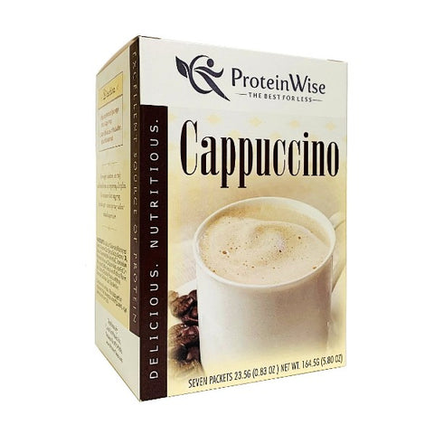 ProteinWise - Classic Cappuccino Protein Drink - 7/Box