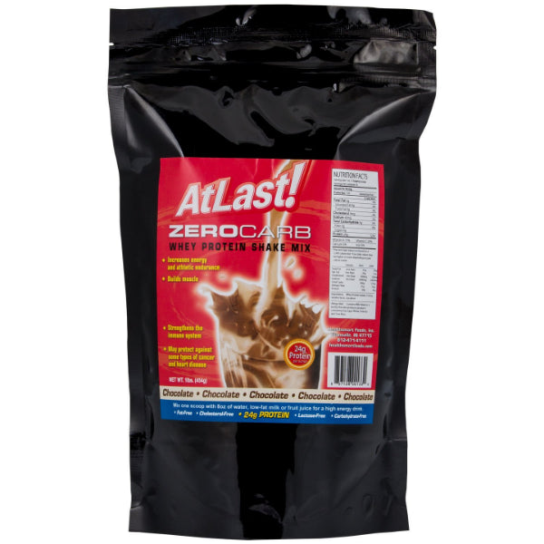 Protein Powders - Healthsmart At Last! Zero Carb Whey Protein Shake Mix - Chocolate - ProteinWise