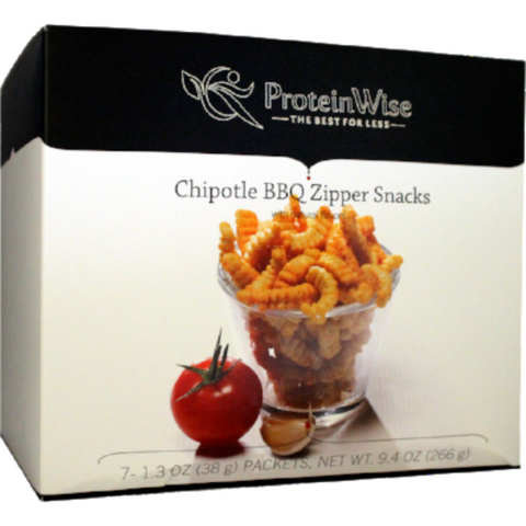 Snacks - ProteinWise - Chipotle BBQ Zipper - 7/Box - ProteinWise