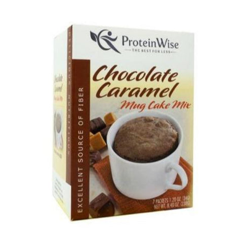 ProteinWise - High Protein Chocolate Caramel Mug Cakes - 7/Box