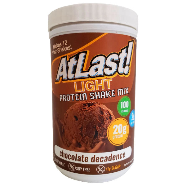 Protein Powders - HealthSmart At Last! Light Protein Shake Mix - Chocolate Decadence - ProteinWise