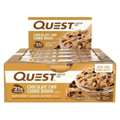 Protein Bars - Quest High Protein Bars - Mint Chocolate Chunk - 12 Bars - ProteinWise