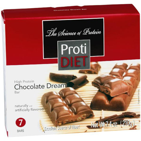 Protein Bars - ProtiDiet - High Protein Chocolate Dream Bar - 7 Bars - ProteinWise