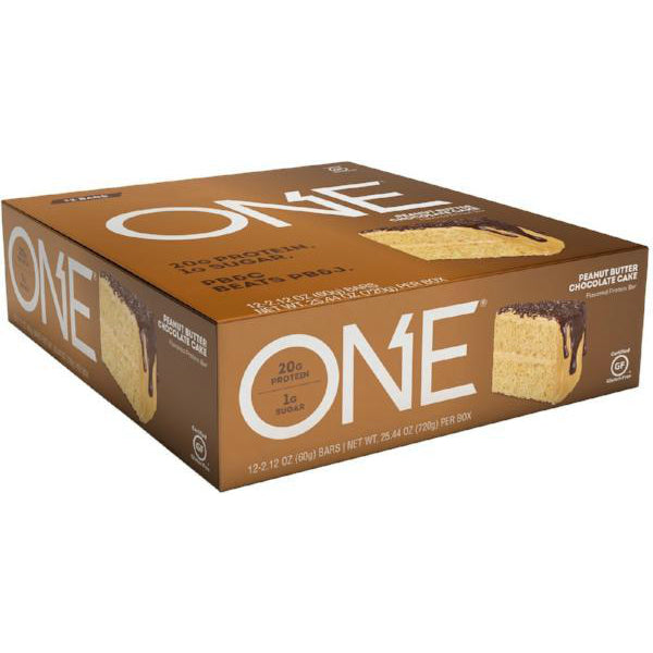 Protein Bars - Oh Yeah! High Protein One Bar - Peanut Butter Chocolate Cake - 12 Bars - ProteinWise