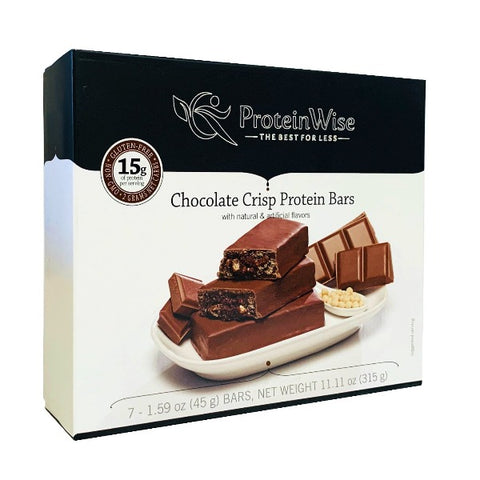 ProteinWise - Chocolate Crisp Low Carb Protein Bar - 7 Bars