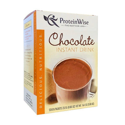 ProteinWise - Chocolate Instant Protein Drink - 7/Box