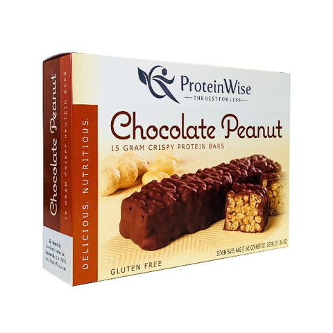 ProteinWise - Chocolate Peanut Dream Crispy Protein Bar - 7 Bars