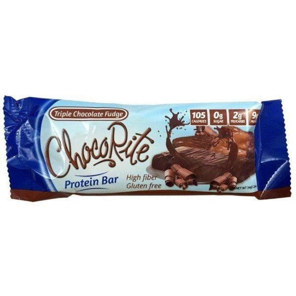 HealthSmart ChocoRite 34g Triple Chocolate Fudge Bar - 1 Bar