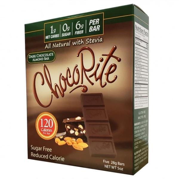 HealthSmart ChocoRite Dark Chocolate Almond Bar - 5 Bars