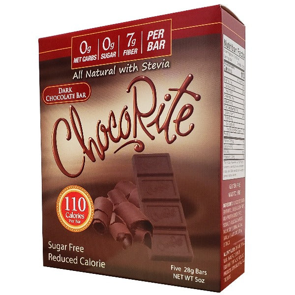 HealthSmart ChocoRite Dark Chocolate Bar - 5 bars
