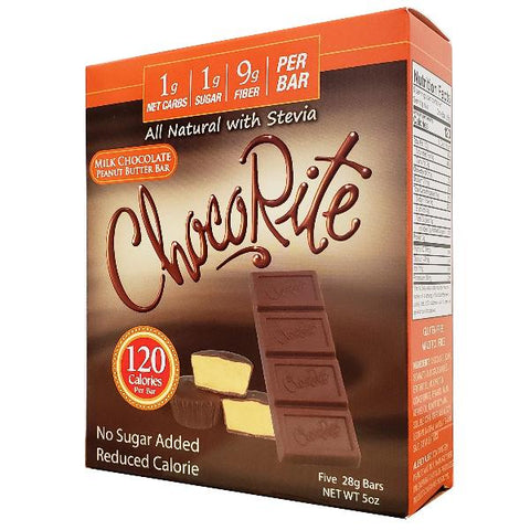 HealthSmart ChocoRite Milk Chocolate Peanut Butter Bar - 5 Bars