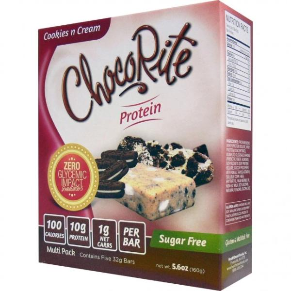 HealthSmart ChocoRite 32g Cookies N Cream Bar - 5 Bars