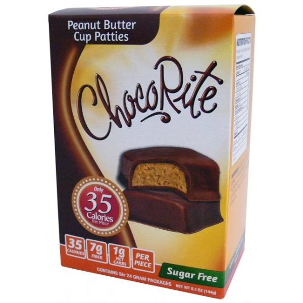 HealthSmart ChocoRite Peanut Butter Cup Patties - 6 Pack
