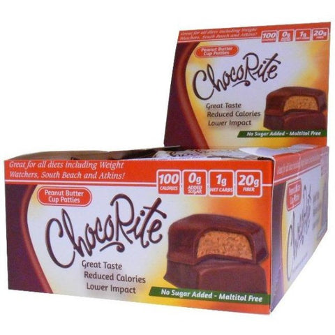 HealthSmart ChocoRite Peanut Butter Cup Patties - 16 Bars