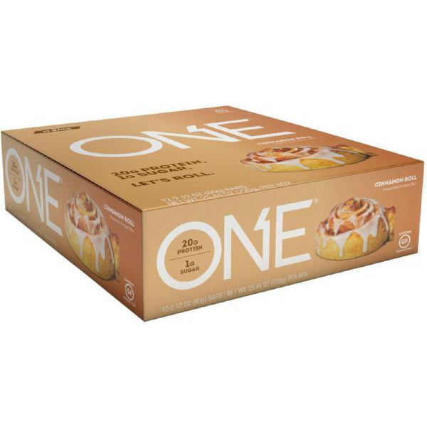 Protein Bars - Oh Yeah! High Protein One Bar - Cinnamon Roll - 12 Bars - ProteinWise