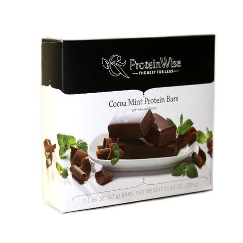 Protein Bars - ProteinWise - Cocoa Mint Protein Bars - 7 Bars - ProteinWise