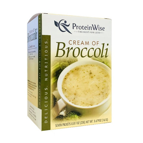 ProteinWise - Cream of Broccoli Protein Soup - 7/Box