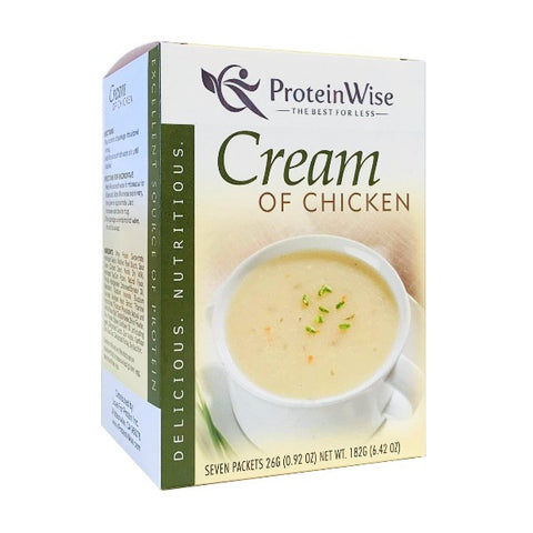 ProteinWise - Cream of Chicken Protein Soup - 7/Box