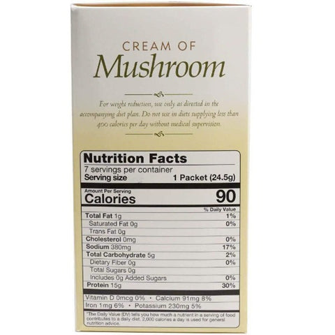 ProteinWise - Cream of Mushroom Protein Soup - 7/Box