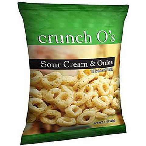 Snacks - ProteinWise - Sour Cream & Onion Crunch O's Protein Chips - 1 Bag - ProteinWise