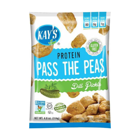 Snacks - Kay's Naturals - Pass The Peas - Dill Pickle - 4-oz Bag - ProteinWise