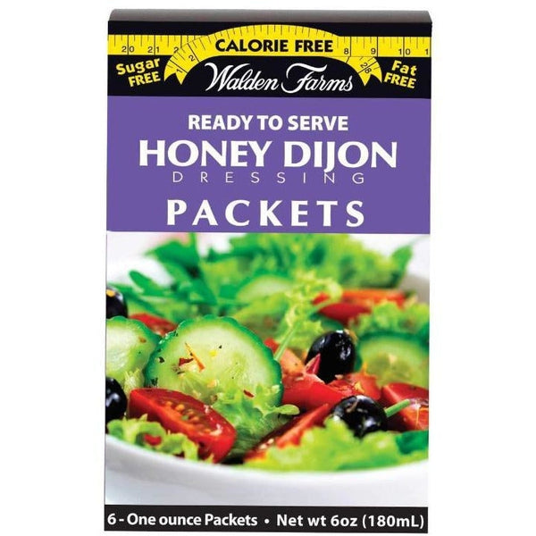 Walden Farms Calorie Free Salad Dressing Packets - Honey Dijon - 6 Packets