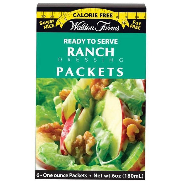Walden Farms Calorie Free Salad Dressing Packets - Ranch - 6 Packets