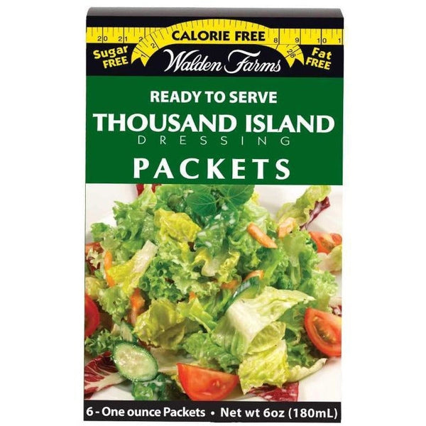 Salad Dressings/Syrups - Walden Farms Calorie Free Salad Dressing Packets  Thousand Island - 6 Packets - ProteinWise