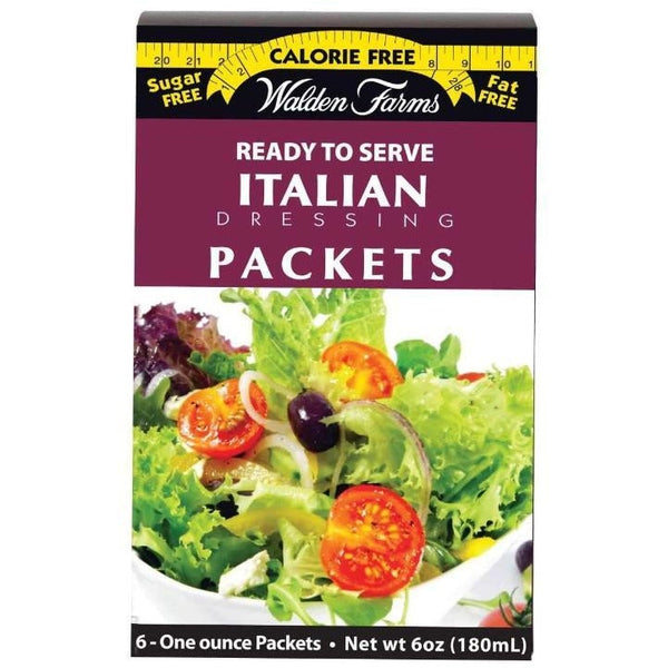 Walden Farms Calorie Free Salad Dressing Packets - Italian - 6 Packets