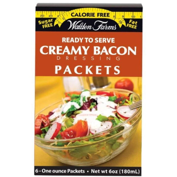 Walden Farms Calorie Free Salad Dressing Packets - Creamy Bacon - 6 Packets