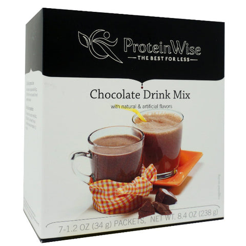 ProteinWise - Hot/Cold Chocolate Protein Drink Mix- 7/Box