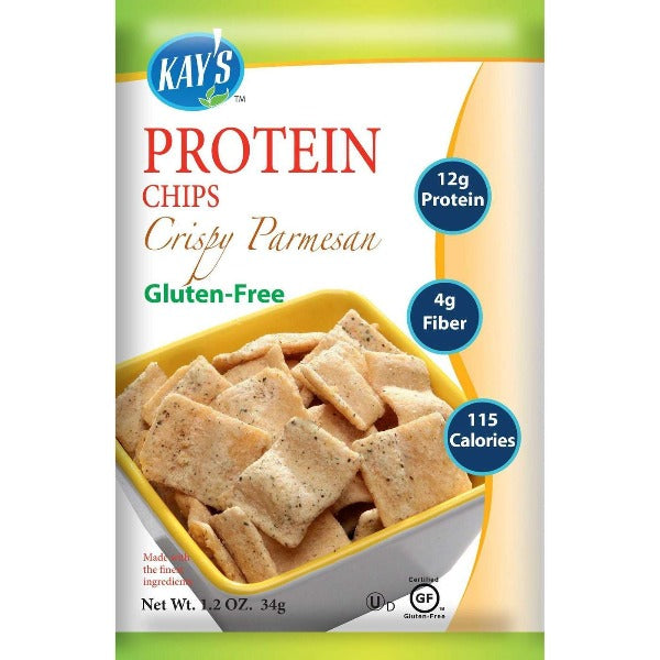 Kay's Naturals Protein Chips - Crispy Parmesan - 1.2-oz Bags (Pack of 6)