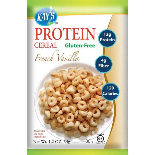 Kay's Naturals Protein Cereal - French Vanilla - 1.2-oz Bags (Pack of 6)