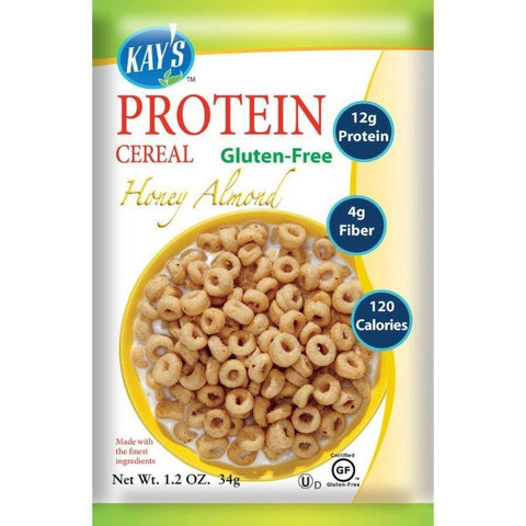 Kay's Naturals Protein Cereal - Honey Almond - 1.2-oz Bags (Pack of 6)