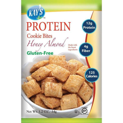 Kay's Naturals Protein Cookie Bites - Honey Almond - 1.2-oz Bags (Pack of 6)