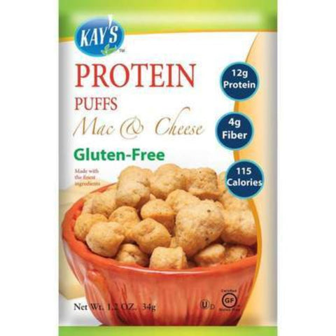 Kay's Naturals Protein Puffs - Mac & Cheese - 1.2-oz Single Bag
