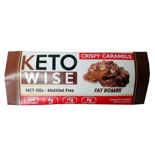 Keto Wise Fat Bombs - Crispy Caramels - 1 Pack