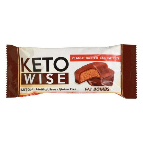 Keto Wise Fat Bombs - Peanut Butter Cup Patties - 1 Pack