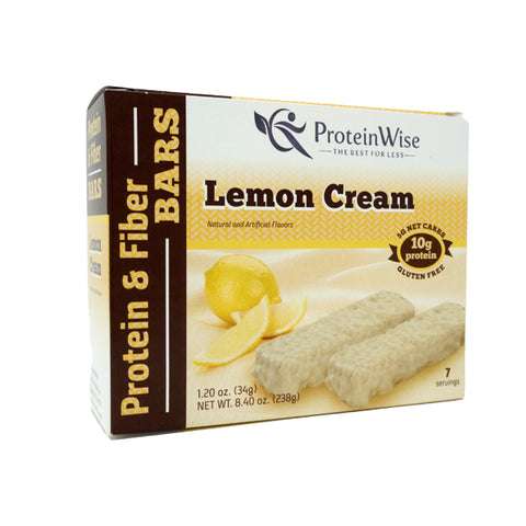 ProteinWise - Divine Lemon Cream High Protein & Fiber Bars - 7/Box