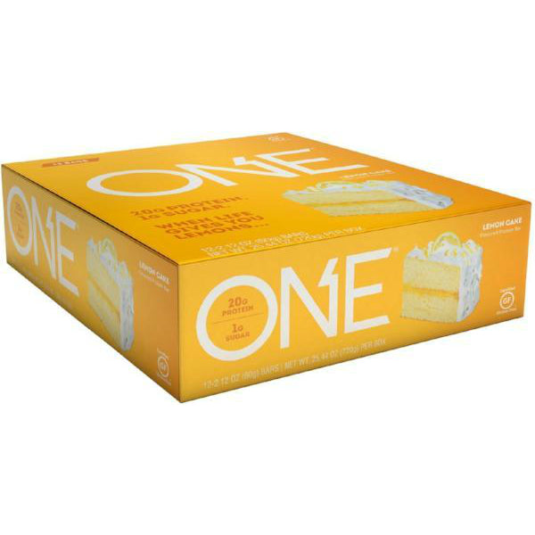 Protein Bars - Oh Yeah! High Protein One Bar - Lemon Cake - 12 Bars - ProteinWise