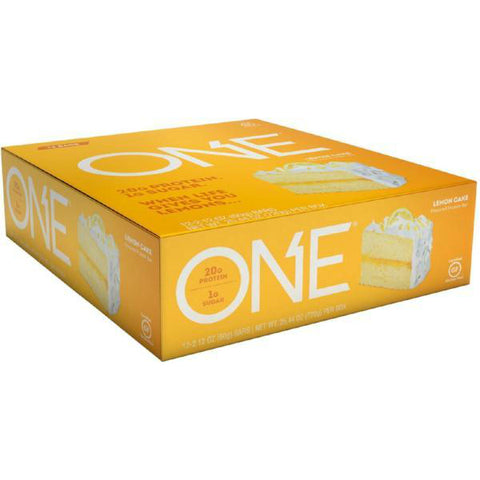 Protein Bars - ONE Protein Bar - Lemon Cake - 12 Bars - ProteinWise