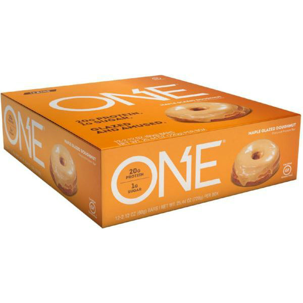 Protein Bars - Oh Yeah! High Protein One Bar - Maple Glazed Doughnut - 12 Bars - ProteinWise