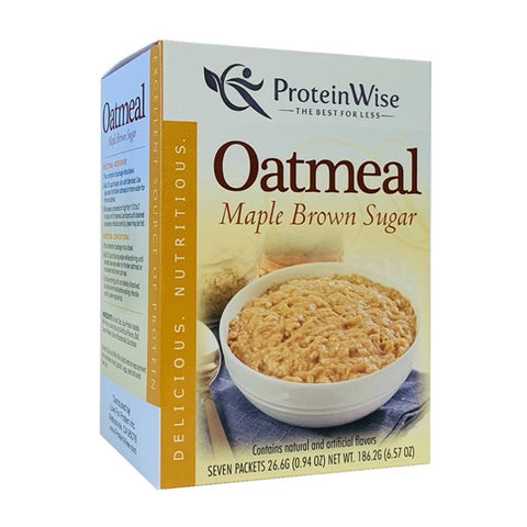 ProteinWise - Maple Brown Sugar Protein Oatmeal - 7/Box