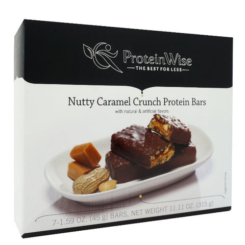 ProteinWise - Nutty Caramel Crunch Protein Bars - 7 Bars