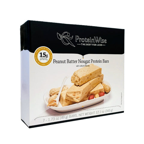 ProteinWise - Peanut Batter Nougat Protein Bar - 7 Bars